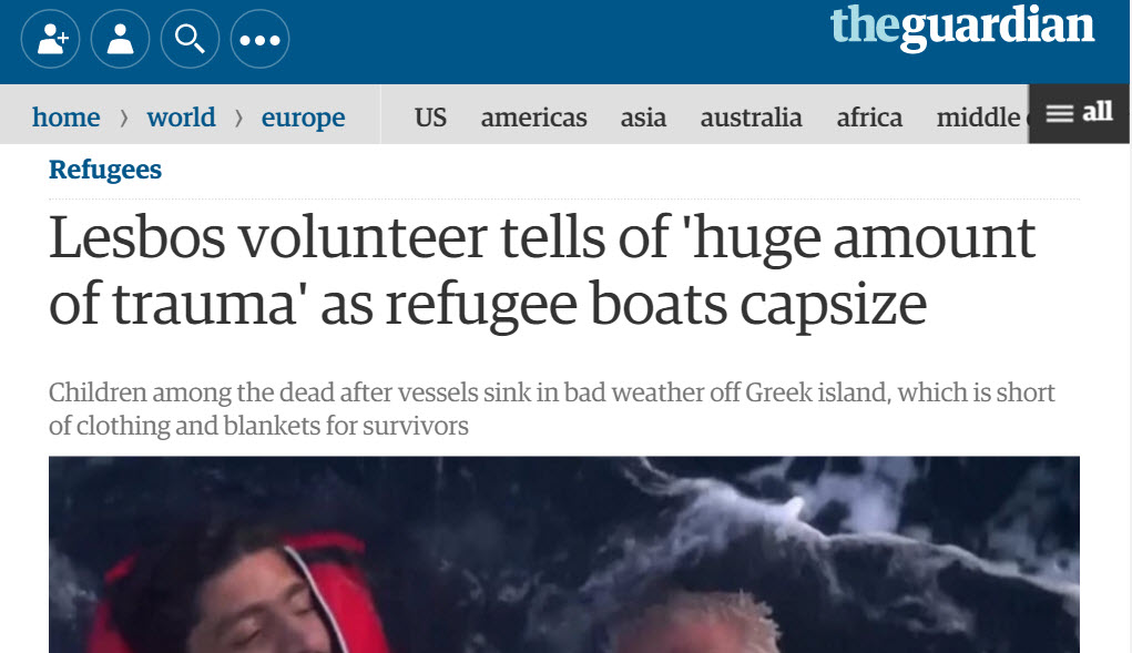 Refugee Plight Reported by The Guardian