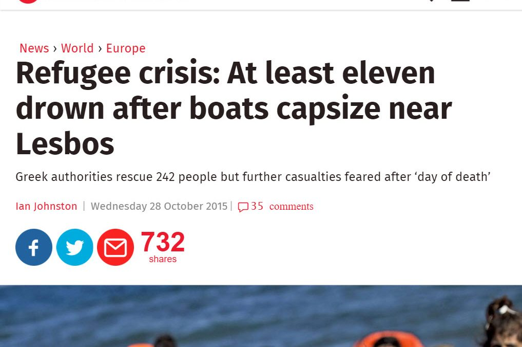 Refugee Plight Reported by The Independant