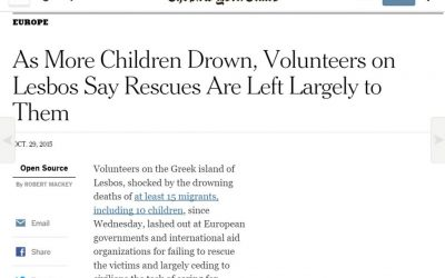 Refugee Plight Reported by New York Times